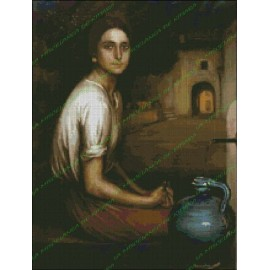 The Little girl by Pitcher - Julio Romero de Torres