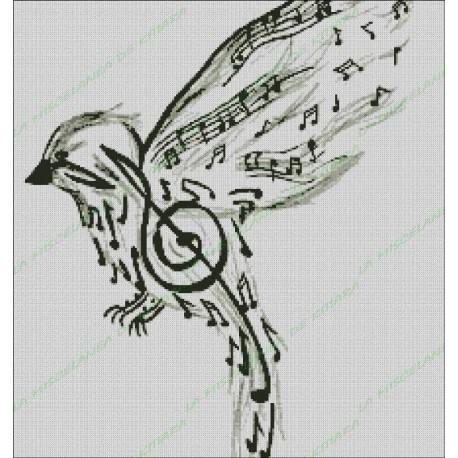 Pájaro De Notas Musicales
