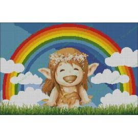 Elf with Rainbow
