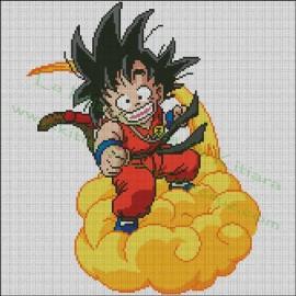 Dragon Ball - Goku en la nube voladora