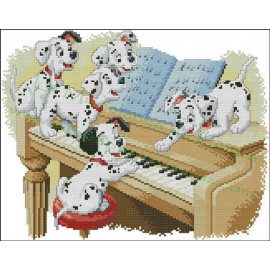 101 Dalmatians at the piano