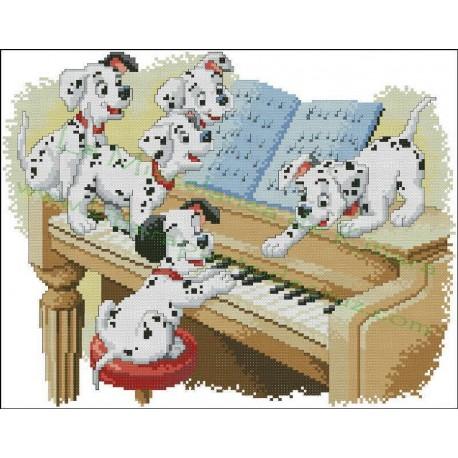 101 Dalmatians at the piano