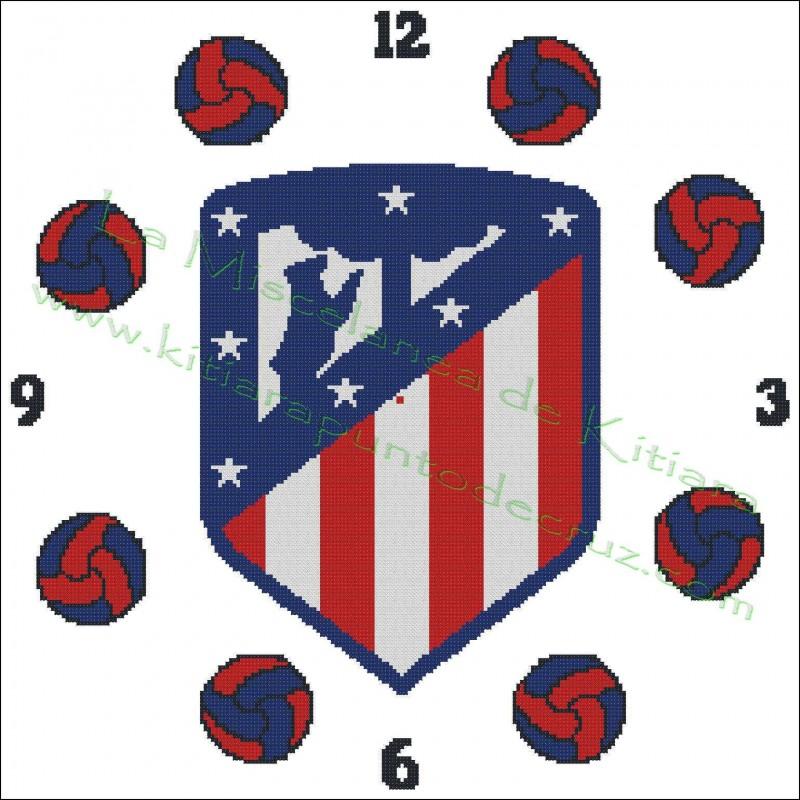 Clock Atlético de Madrid 2