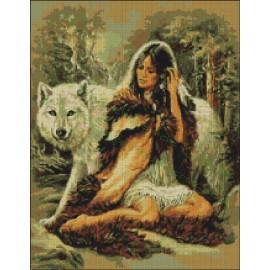 Lobo con India