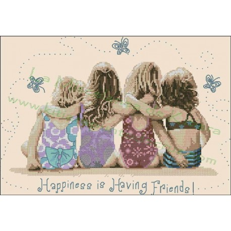 Happiness is having friends