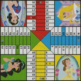 Disney princesses parchis