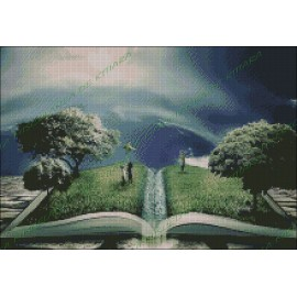 Landscape in a book
