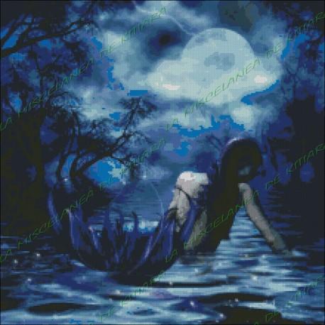 Sirena en la noche