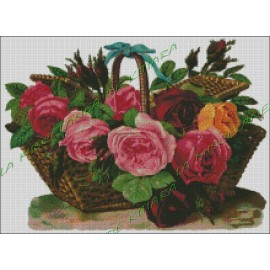 Basket with Flowers 2