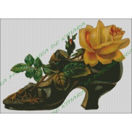Shoe with Flowers
