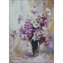Vase with Flowers violets