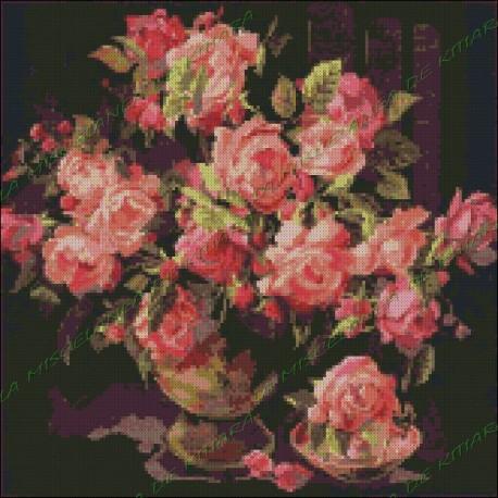 Jarrón con Rosas