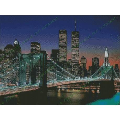 Puente de Manhattan de Noche