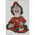 Cartoon Fernando Alonso Ferrari