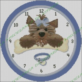 Blue Ribbon Dog Clock