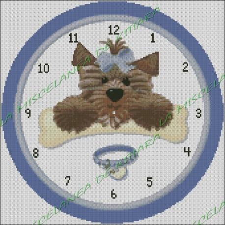 Reloj Perrito Lazo Azul