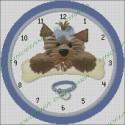 Blue Ribbon Dog Clock