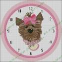Reloj Perrito Lazo Rosa
