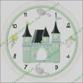 Princess Castle Clock
