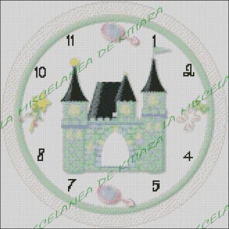 Princess Castle Clock