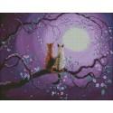 Gatos a la pálida luz de la luna