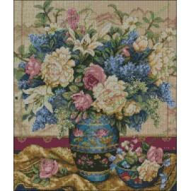 Jarrón Chino con flores