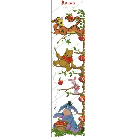 Height Chart Tree Winnie the Pooh