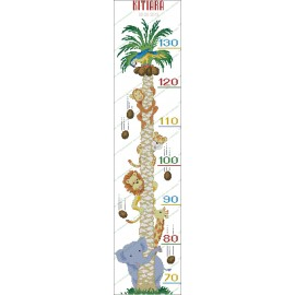 Height Chart Palm tree with Animals