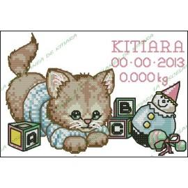 Natalicio - Gatito con juguetes
