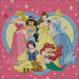 Princesas Disney con Corazón
