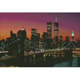 Anochecer en el Puente de Manhattan