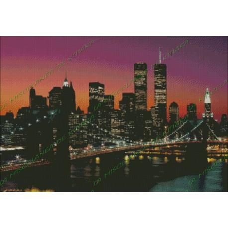 Dusk on the Manhattan Bridge