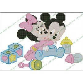 Mickey y Minnie Bebes con Juguetes