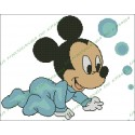 Baby Mickey with bubbles