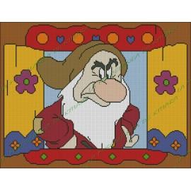 Window Grumpy - The Seven Dwarfs