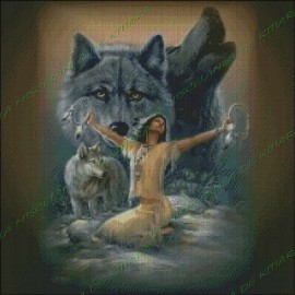 India with Wolves