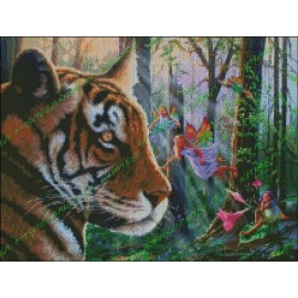 Tiger with fairies