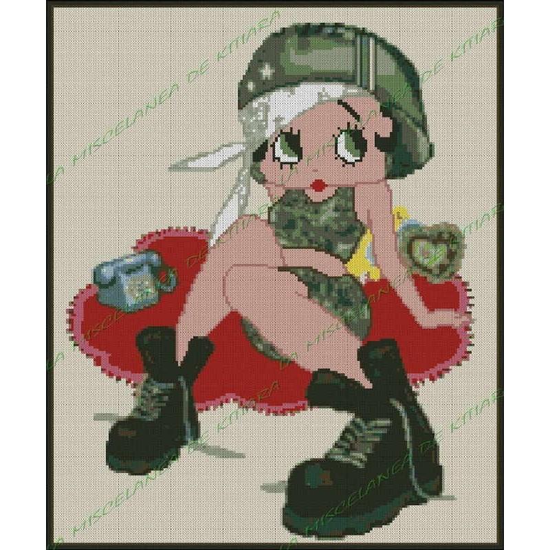 Betty Boop Military