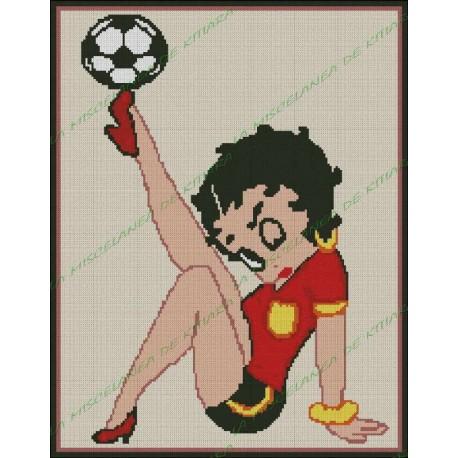 Betty Boop Footballer