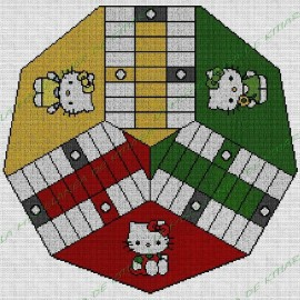 Parchis 3 jugadores Hello Kitty