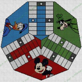 Parchis 3 players Mickey and Friends