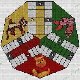 Parchis 3 players Winnie the Pooh