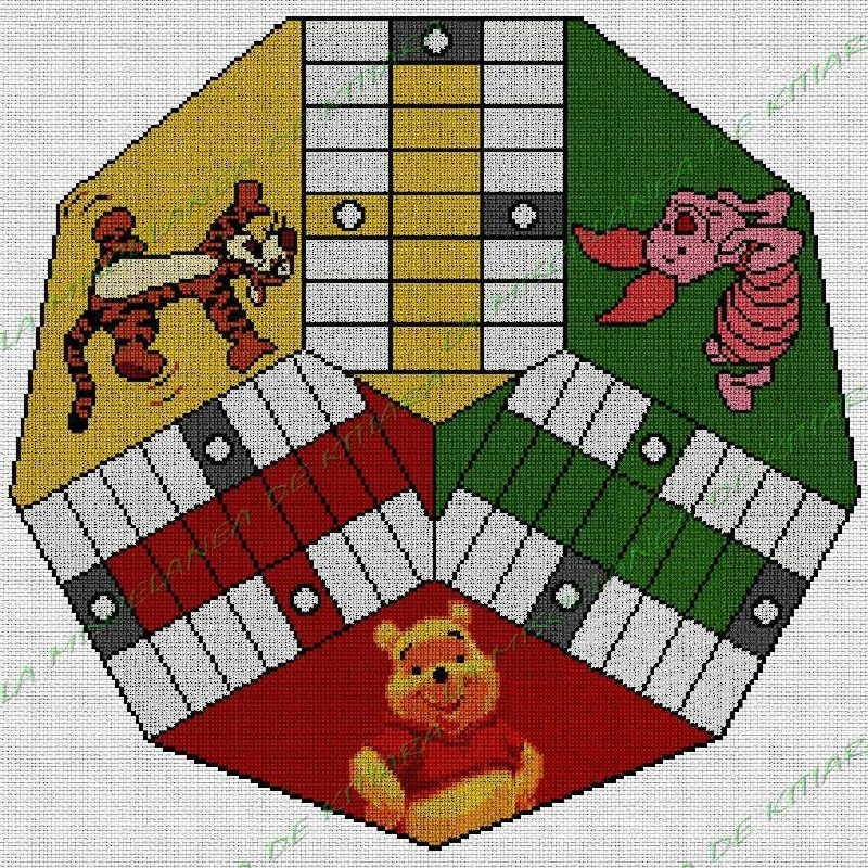 Parchis 3 jugadores Winnie the Pooh