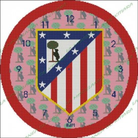 Clock Reloj Atletico de Madrid