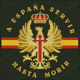 Bandera con el escudo del Ejército de Tierra Personalizada
