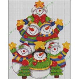 Arbol de muñecos de Nieve