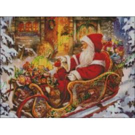 Papa Noel en su Trineo