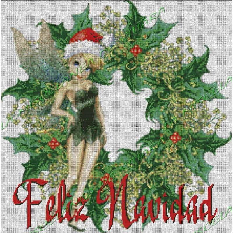 Christmas Tinkerbell.Merry Christmas Tinkerbell