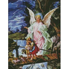 Angel de la Guarda con niños