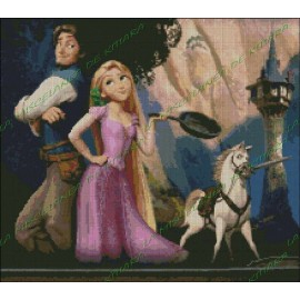 Rapunzel and Flynn 2